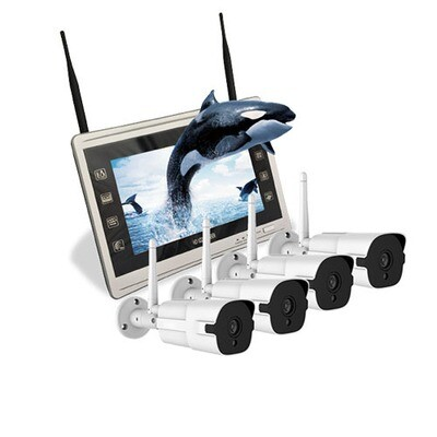 WIFI-4 channel IP surveillance cameras