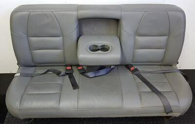 3 Passenger Leather Bench Seat