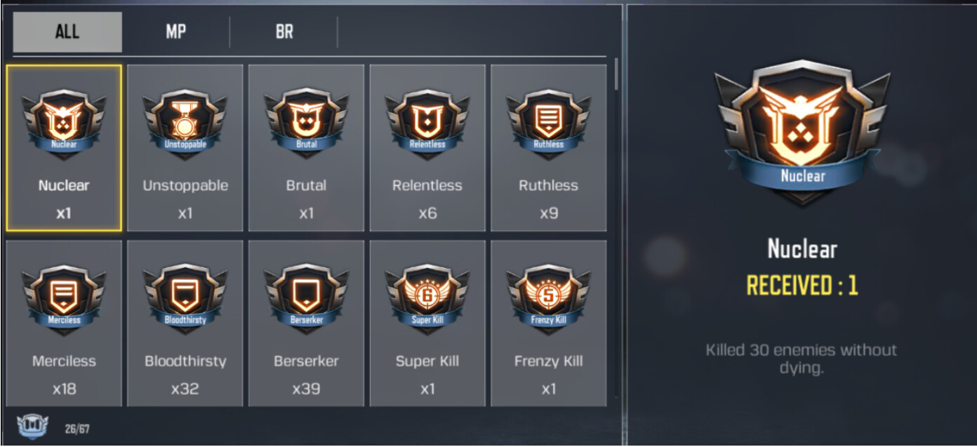 COD Mobile Medals