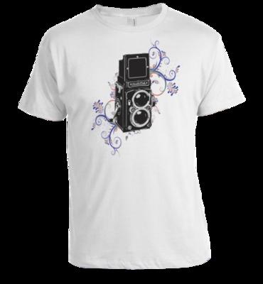rolleiflex camera t-shirt