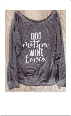 Dog Mother Wine Lover