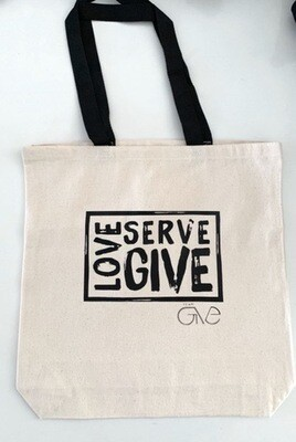 Love • Serve • Give Tote