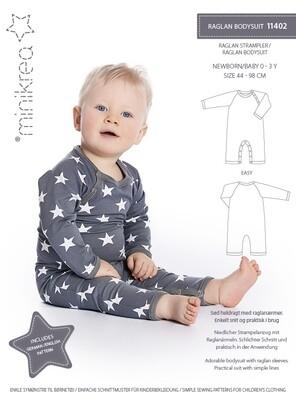 Sewing pattern for Raglan bodysuit