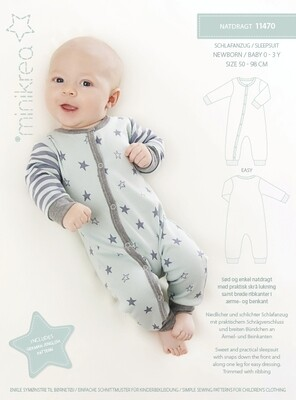 Sewing pattern for Sleepsuit