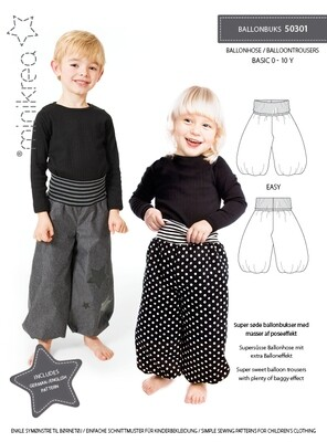 Sewing pattern for Balloon trousers