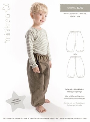 Sewing pattern for Baggy trousers