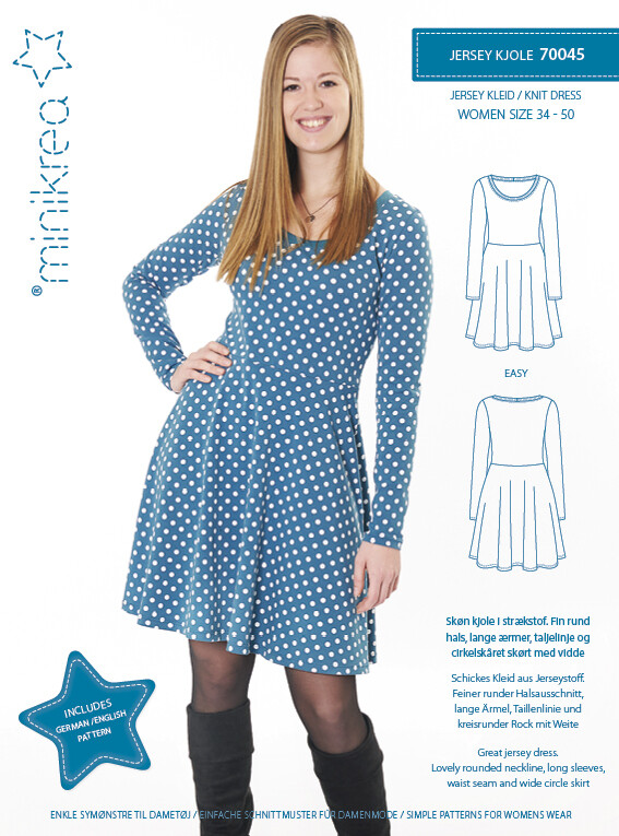 Sewing pattern for Knit Dress