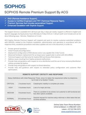 Sophos Premium Professional Services - US & Caribbean (Price per Hour)