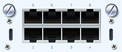 Sophos 8 port GbE copper FleXi Port module (for SG/XG 2xx/3xx/4xx only)