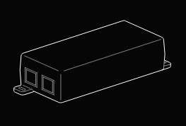 Verkada PoE Plus (802.3at) Injector, GigE