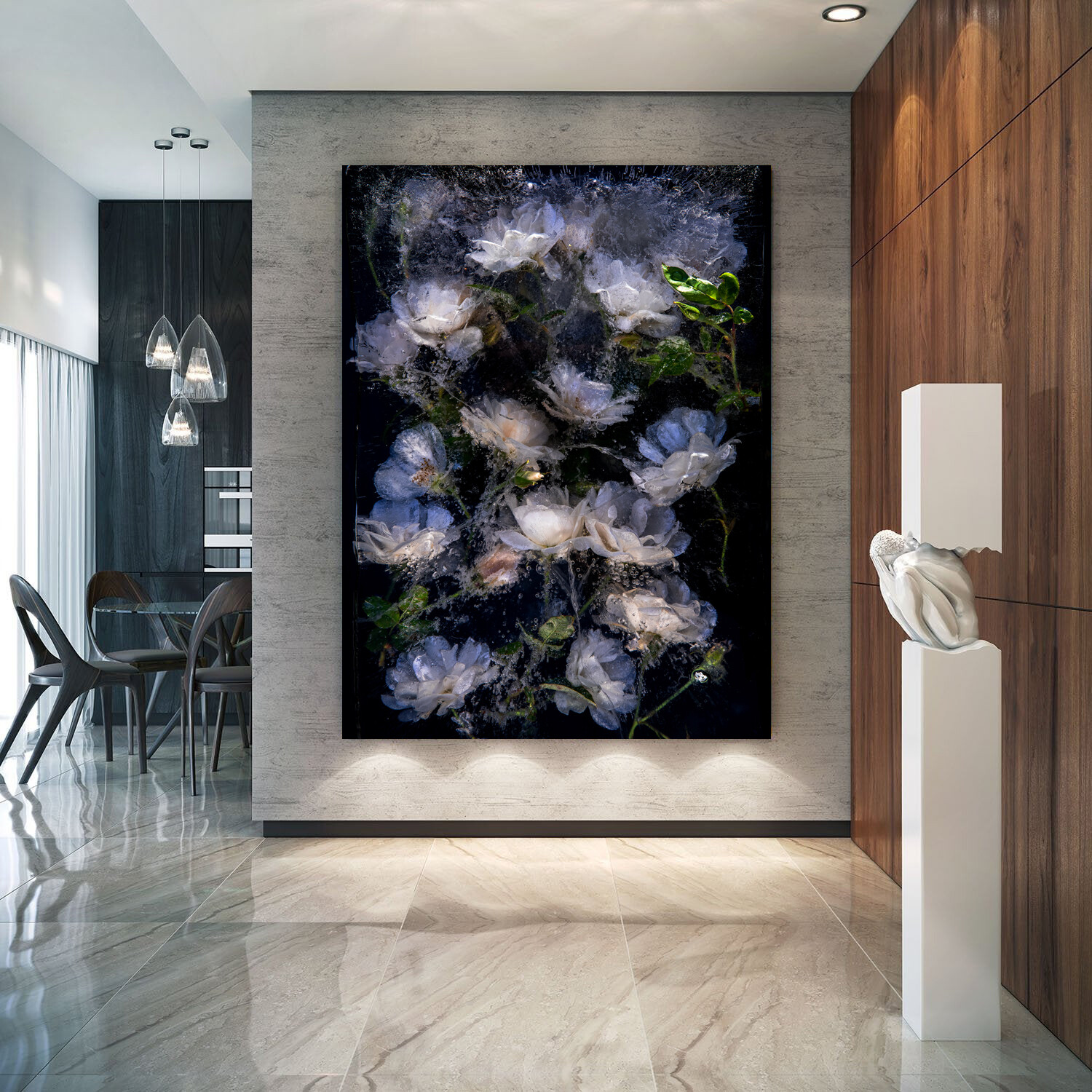 Roses are white - 80x120cm - Artist Proof