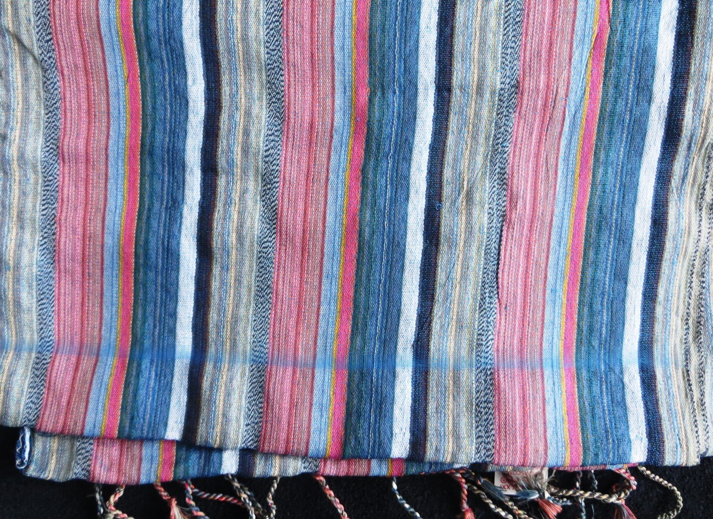 Blue stripes pattern rectangle tichel