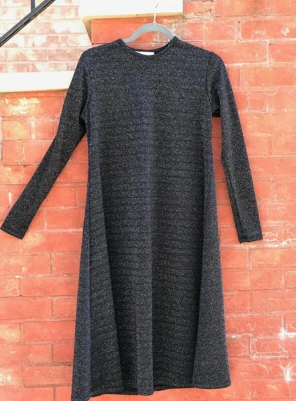 Black sparkle easy wear dress