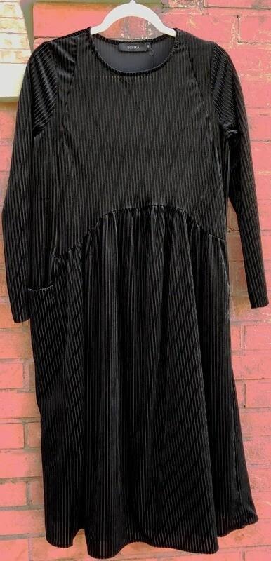 Velvet ribbed dress (2 colors to choose)
