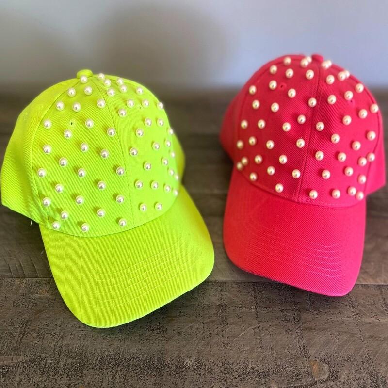 Neon pearled caps