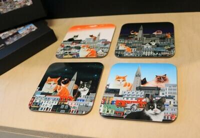 Reykjavik cat coasters