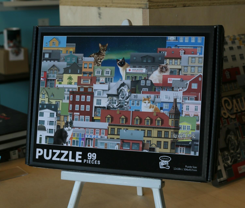Reykjavik puzzle for kids