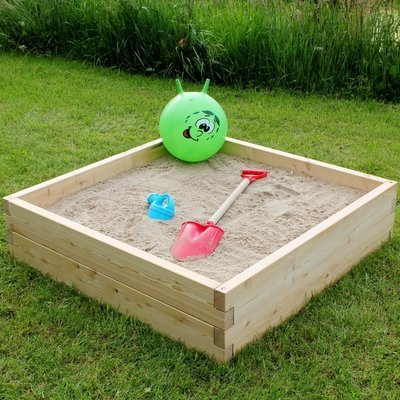 Modulaire houten zandbak | L 107 x B 107 x H 25 cm