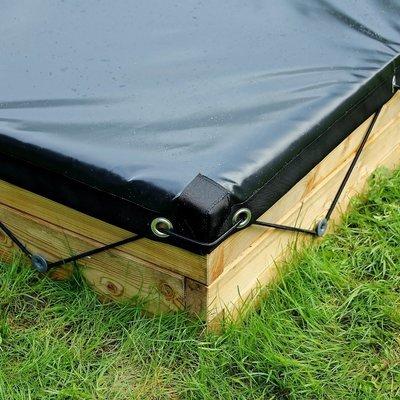 Waterdicht zeil voor XL houten zandbak | L 210 x B 107 x H 25 cm