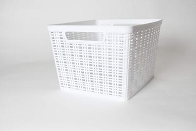 91042 Canasta tejida de plástico grande