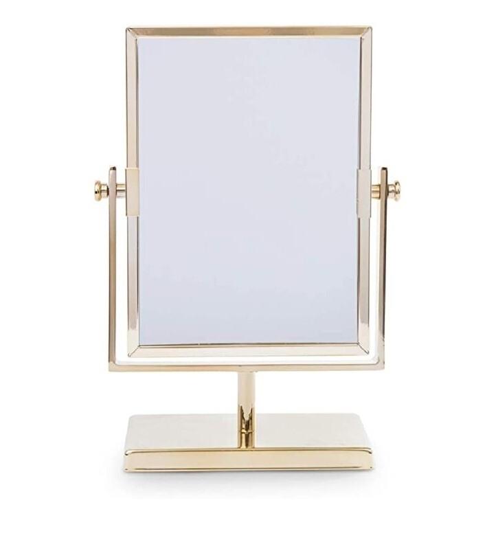 Espejo dorado para tocador y clóset