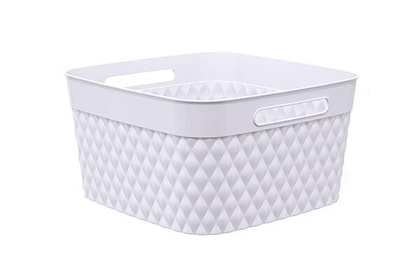 85124 Canasta flexible multi-usos rectangular chica en blanco
