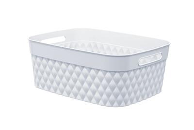 86124 Canasta flexible multi-usos rectangular mediana en blanco