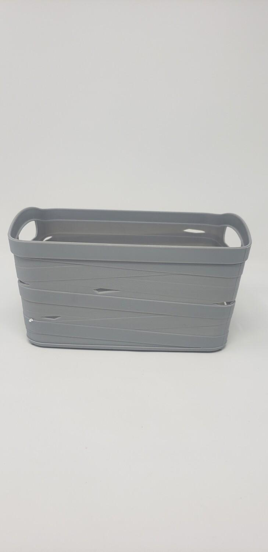 Canasta gris plástico chica