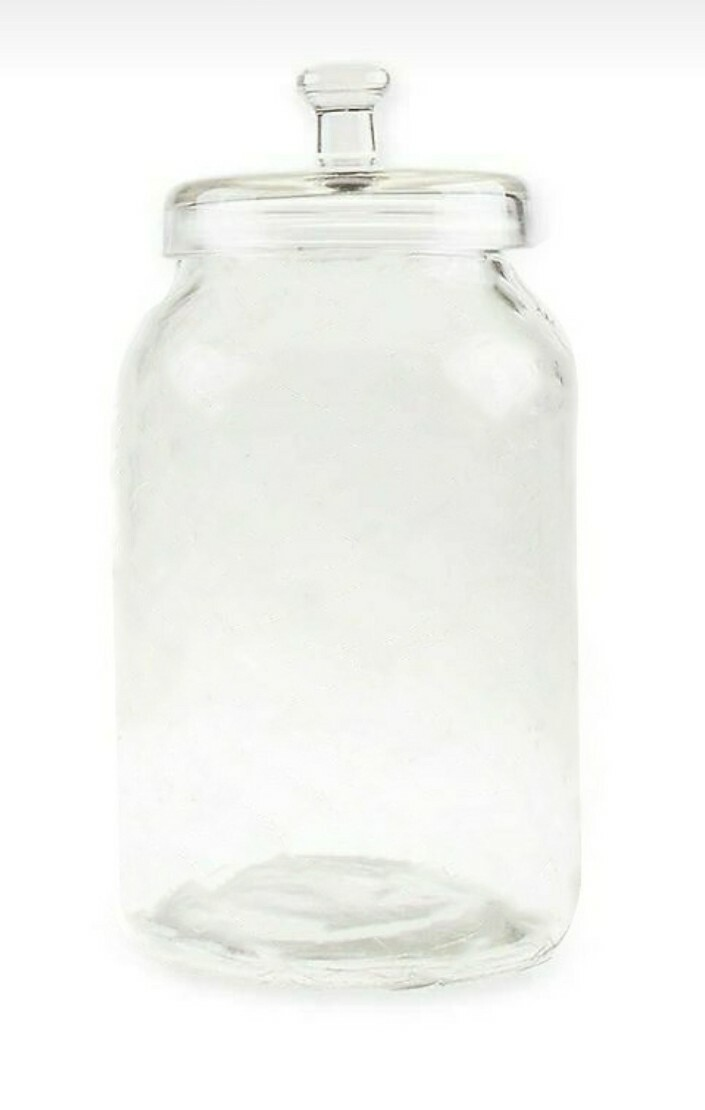 Frasco de vidrio para almacenar granos