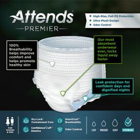 Attends Premier Underwear Medium, 72 count
