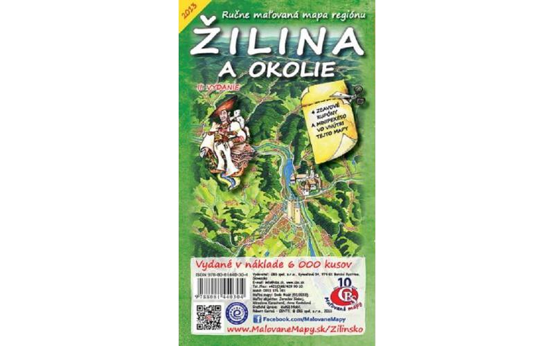 MAPA Žilina a okolie II.vydanie