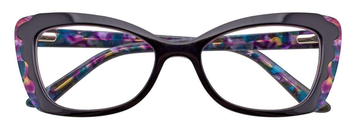 PARADOX COLLECTION Eyeglasses P5003 Black & Multicolor 51-17-135 LAST ONE