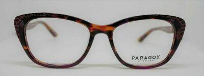 PARADOX COLLECTION Eyeglasses P5012 53-17-140 010 Marbled Fushia, Brown & Black