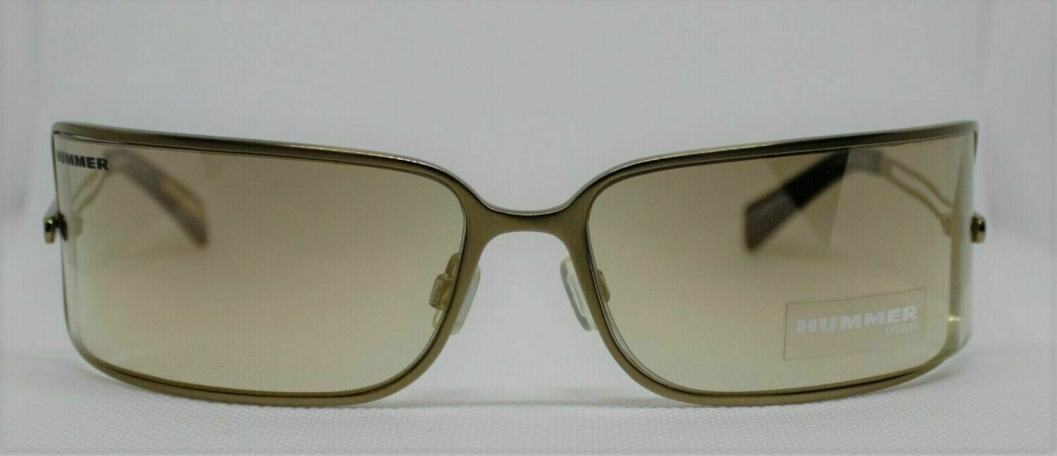 NEW Hummer Sunglasses Out of Production New Old Stock Gold shield RARE!