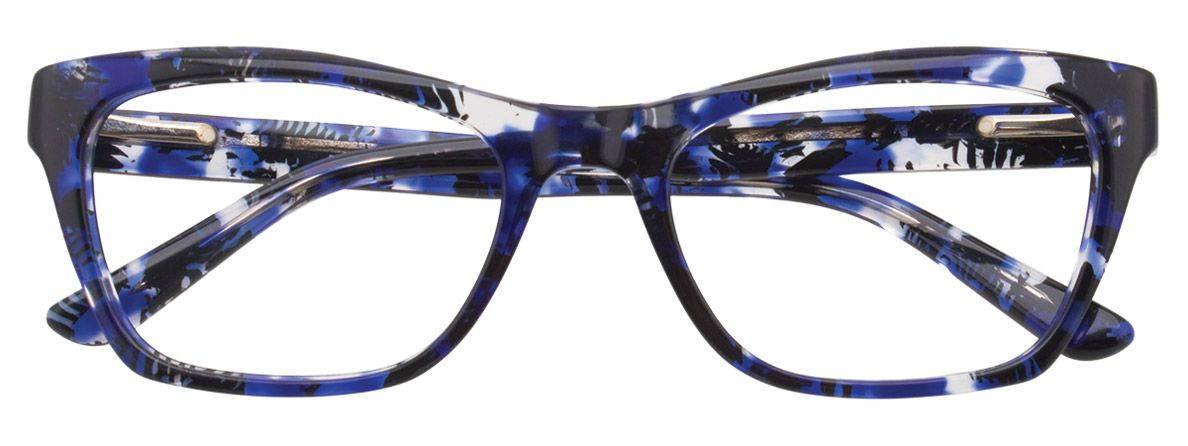EASY CLIP EC352 050 52/18 New BLACK BLUE Authentic WOMEN EYEGLASS W/ CLIP