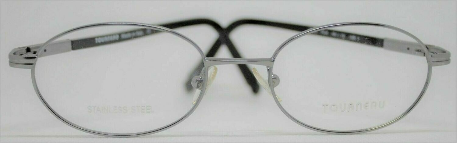 Tourneau TO22 eyeglass frames in Pladium 49-18-135 Made in Italy Stainless