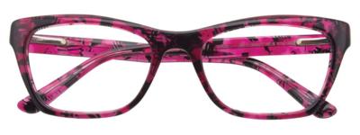 EASY CLIP EC352 52/18 New 030 - Crystal Dark Pink-Black EYEGLASS W/ CLIP