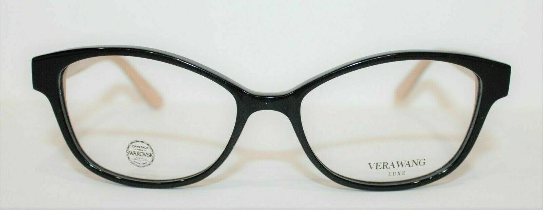 100% AUTHENTIC VERA WANG Mazzoli in Black/Tan color Swarovski Crystals 51-15-130