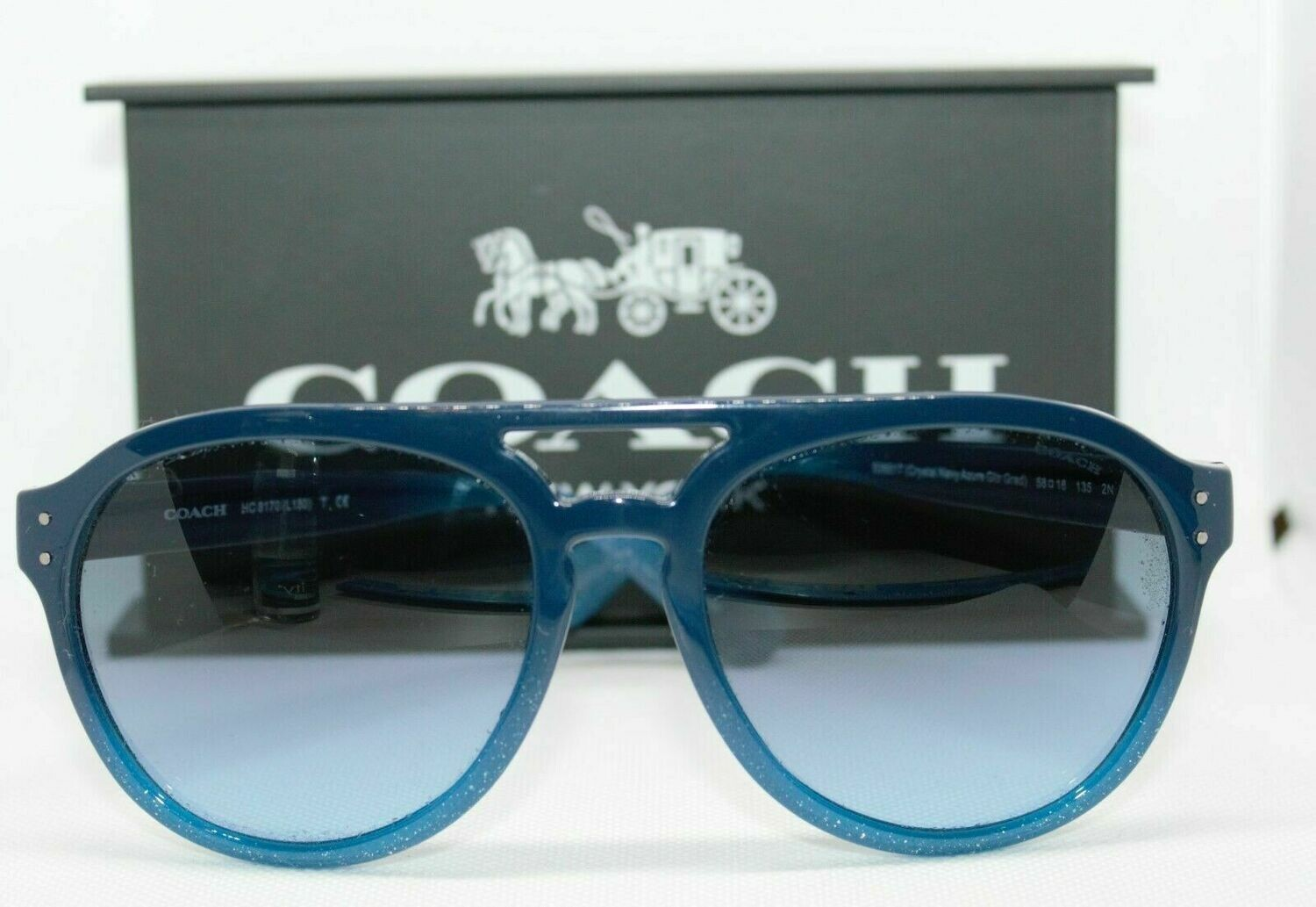 Coach HC 8170 Sunglass Blue Gradient lens RARE! CASE/Cloth included NEW Authenti