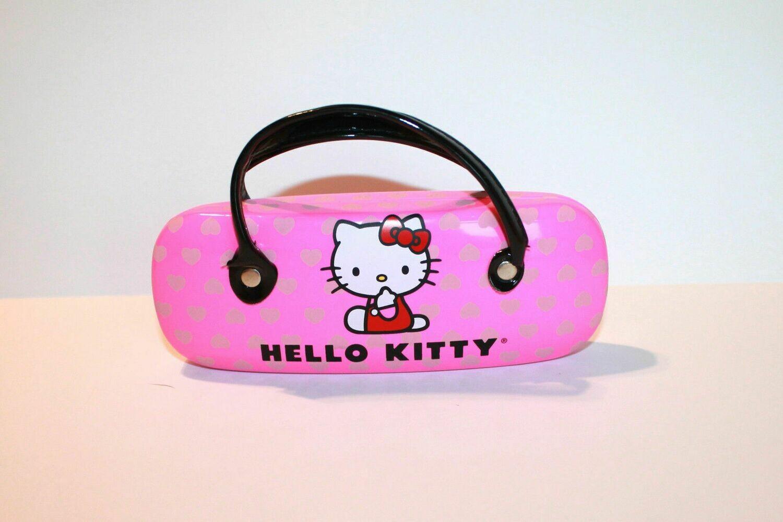 NEW Hello Kitty Girl's eyeglass Case purse Larger Neon Pink (RARE)
