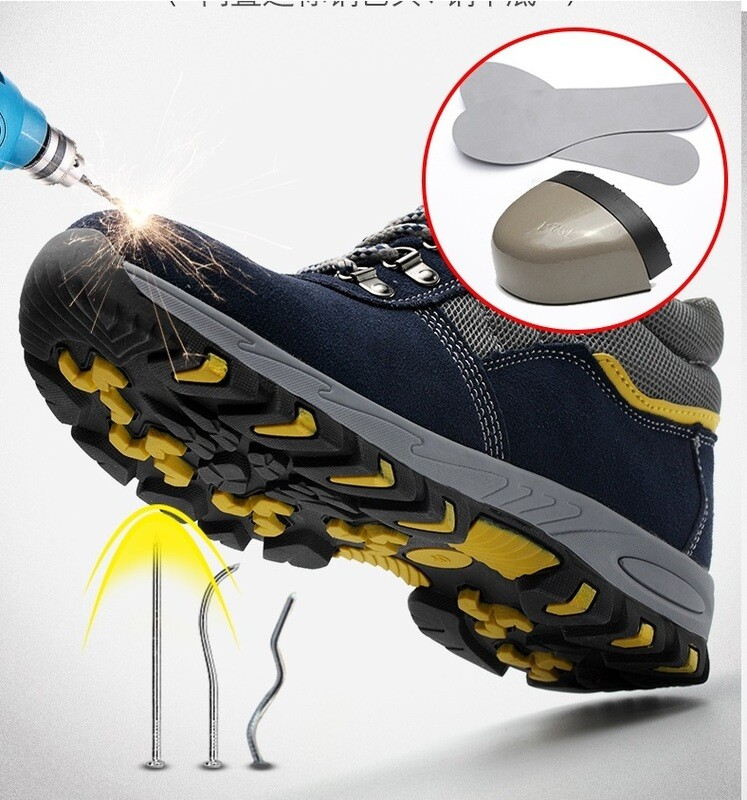 Safety Construction Shoes suitable for winter, Anti-hit, Anti-puncture, Waterproof.