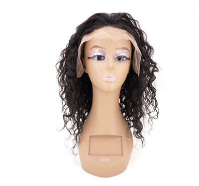 Messy Curly Lace Front Wig