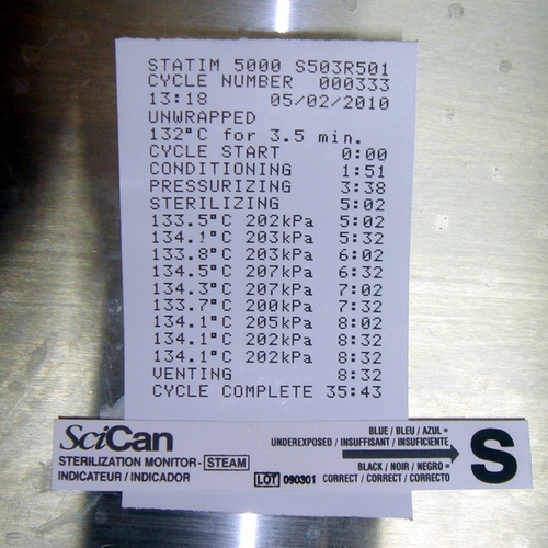 Thermal printer paper for 5000 and Statprinter [PKG of 10]