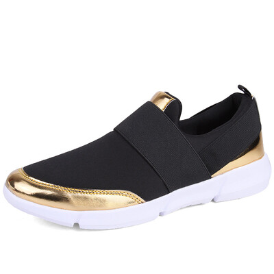 Black/Gold Women Sports Sneakers