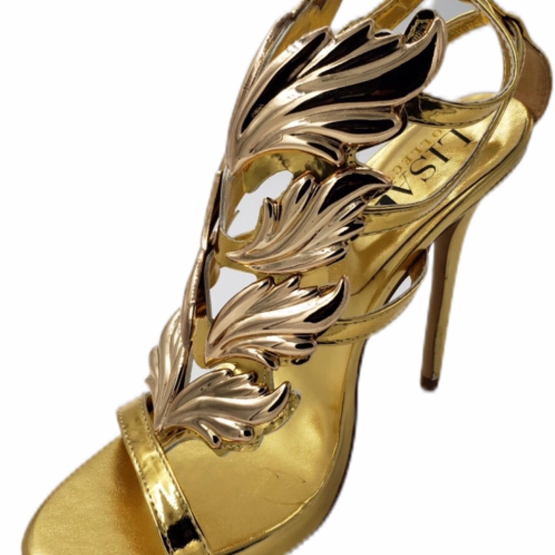 Gold Gladiator Slingback High Heels