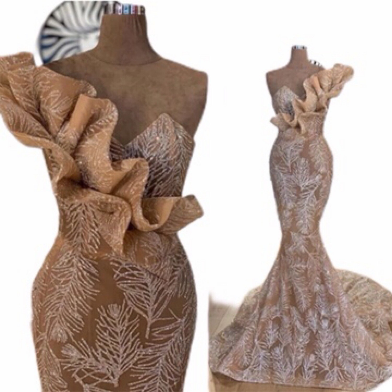 Lisa T Long Mermaid Luxury Sequin Evening Gown