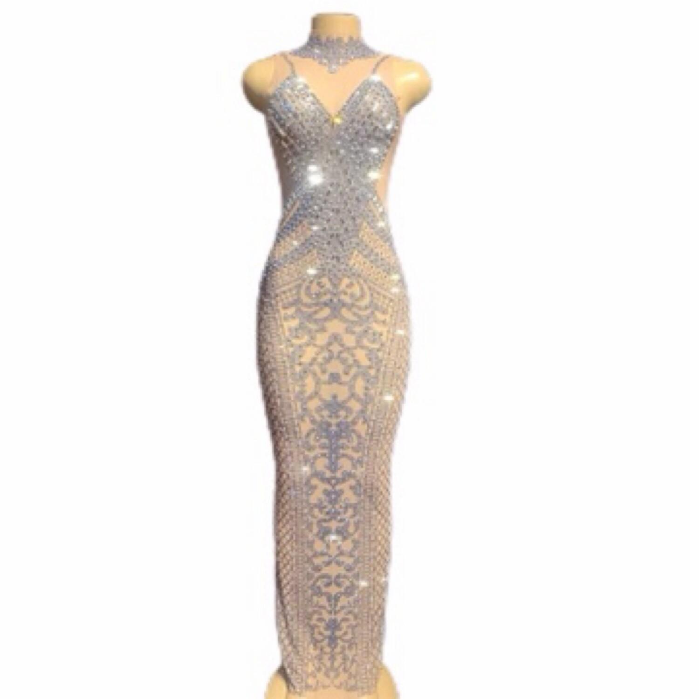 Lisa T Crystal Evening Dress
