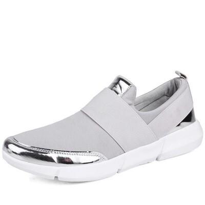 Silver Women Sneakers