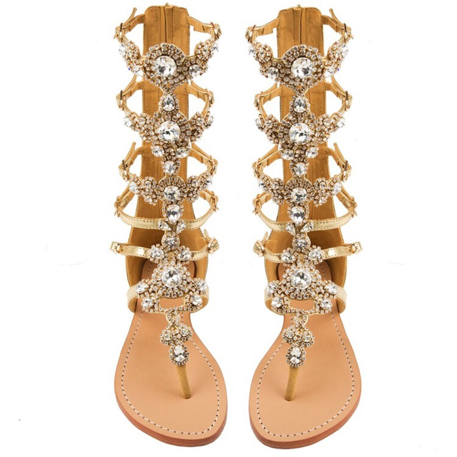Luxury Gold Flat Sandals