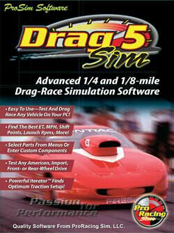 DragSim5 1/8 & 1/4 Mile Drag-Race Simulation
